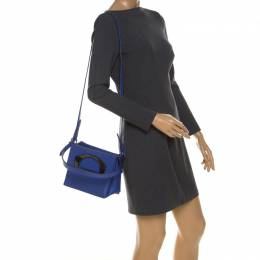 Christian Louboutin Blue Leather Mini Passage Top Handle Bag 230379