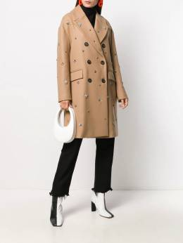 Semicouture - embellished double-breasted coat V5695599099000000000