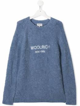 Woolrich Kids трикотажный джемпер с логотипом WKMAG1244UF0418T