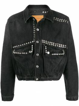 Martine Rose укороченная джинсовая куртка с заклепками MRAW19224