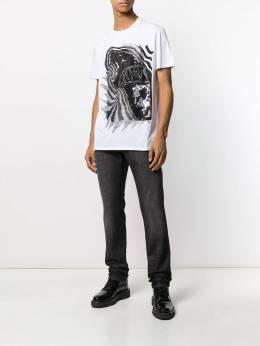 Just Cavalli - декорированная футболка с графичным принтом GC6555N0666395530635