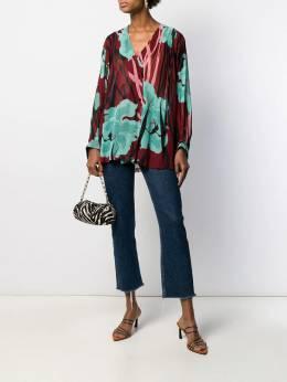 Just Cavalli - блузка свободного кроя с цветочным принтом DL6005N3933595536538