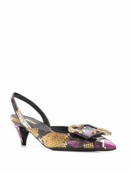 Just Cavalli - туфли с ремешком на пятке и тиснением под кожу змеи WL6905P9980955398690