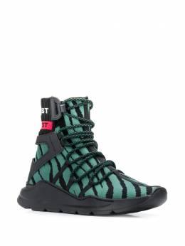Just Cavalli - высокие кроссовки с зебровым узором WS6966P0358955398850