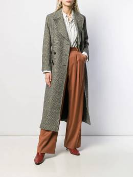 Alberto Biani - double-breasted houndstooth coat 96WO0968956663630000