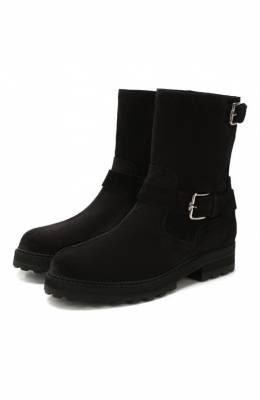 Замшевые ботинки Tod's XXW95B0BQ20RE0