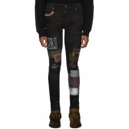Amiri Black Grunge Patch Medium Crafted Jeans 192886M18602702GB