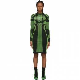 Misbhv Black and Green Active Future Short Dress 192937F05200401GB