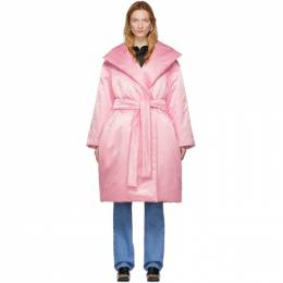 Balenciaga Pink Padded Wrap Coat 192342F06100301GB