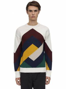 Graphic Mereno Wool Blend Sweater Drole De Monsieur 70IWNQ011-TVVMVElDT0xPUg2