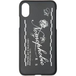 Raf Simons Black Nomophobic iPhone X Case 192287F03200301GB