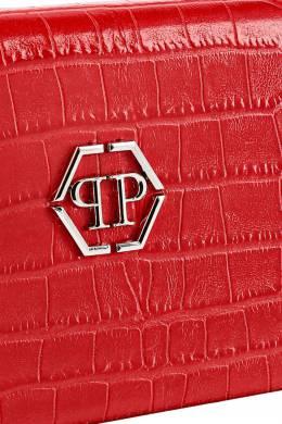 Красная сумка-кроссбоди с серебристым логотипом Philipp Plein 1795138403