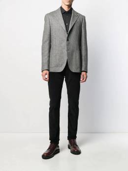 Lardini - herringbone patch pocket blazer 60AILA53538955835950