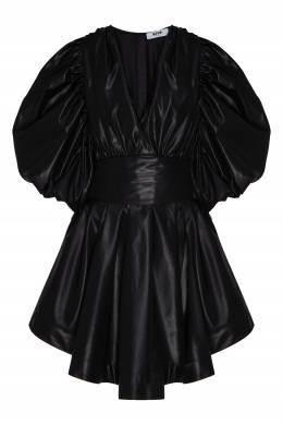 Черное платье миди с драпировками MSGM 296158670