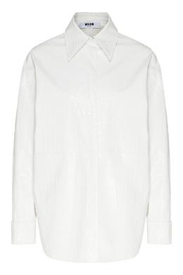 Белая блузка из фактурной ткани MSGM 296158668
