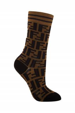 Носки в оттенках коричневого и черного Fendi 1632158554