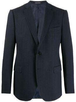 Emporio Armani пиджак с узором 41GME041570R