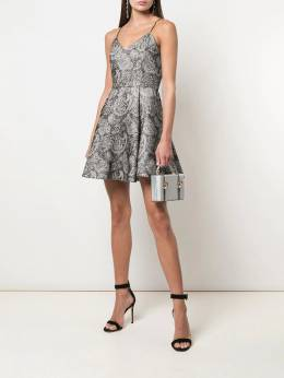 Alice+Olivia - Anette paisley pattern flared mini dress 96N59550955935980000