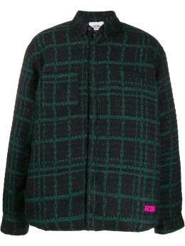 GCDS куртка-рубашка в клетку FW20M020067