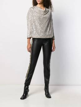 Patrizia Pepe - блузка с пайетками и драпировкой 839A5V69559359600000