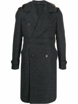 Tagliatore клетчатое пальто с поясом BLAKE61QIC111S3044148960
