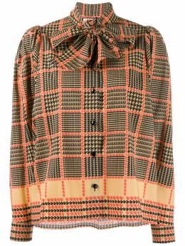 Gucci - блузка в клетку с бантом 066ZACRD955899830000