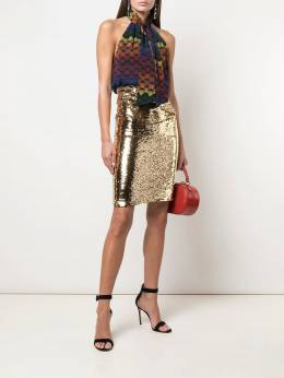 Alice+Olivia - Ramos sequinned fitted skirt 96E30398P95593695000
