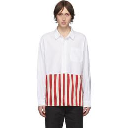 Visvim Red Stripe Talbot P.O. Shirt 192487M19200603GB