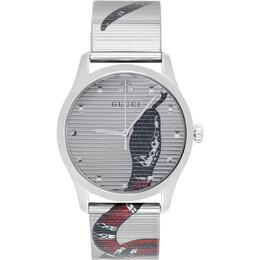 Gucci Silver G-Timeless Snake Watch YA1264123