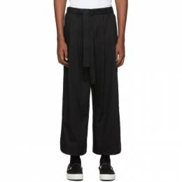 Naked And Famous Denim SSENSE Exclusive Black Wide Trousers 192527M19100507GB