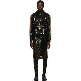 Versace Black Transparent Trench Coat 192404F05900503GB