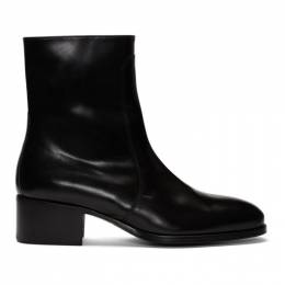 Lemaire Black Leather Chelsea Boots 192646M22300205GB