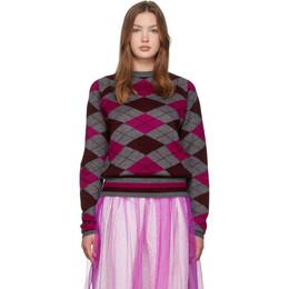 Molly Goddard Grey and Pink Joan Sweater 192943F09600102GB