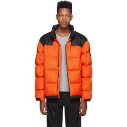 The North Face Orange Down Lhotse Jacket 192802M17802804GB