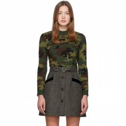 Miu Miu Multicolor Wool Jacquard Camo Sweater MML256 K4H