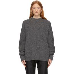 Tibi Grey Alpaca Airy Sweater 192095F09600402GB