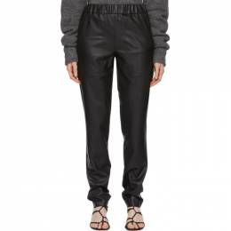 Tibi Black Faux-Leather Pull-On Trousers F219FL3025