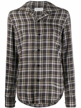 Saint Laurent - long sleeves checked shirt 863Y506W955999890000