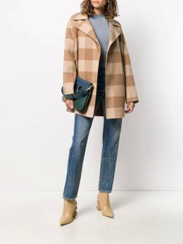 Theory - double-faced check coat 69595955389560000000