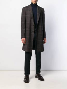 Lardini - checked single breasted coat 3658AEILA53633956650