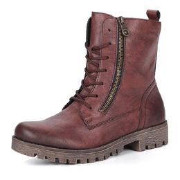 Бордовые ботинки на высокой шнуровке Rieker 219727