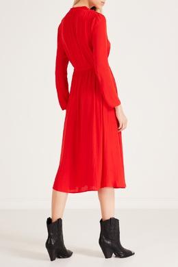 Красное платье с завязками Maje 888157964