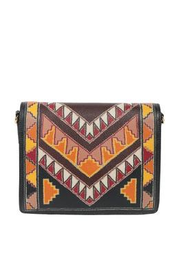 Черная сумка с контрастными узорами Etro 907158740