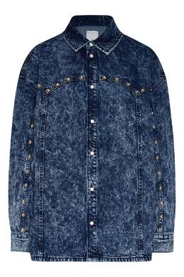 Рубашка из «вареного» денима Sandro 914158391
