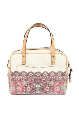 Бежевая сумка с орнаментами и отделкой Etro 907158770