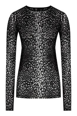 Черный ажурный пуловер Maje 888157973