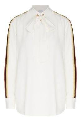 Белая блуза с бантом Sandro 914158453
