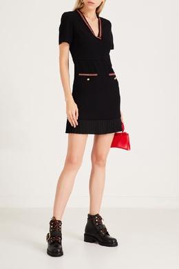 Короткое платье с яркой отделкой Sandro 914158426