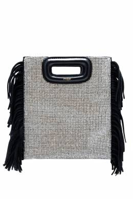 Черная прямоугольная сумка с декором Maje 888157979
