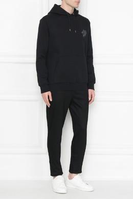 Черное худи с вышивкой Paul Smith 1924159260